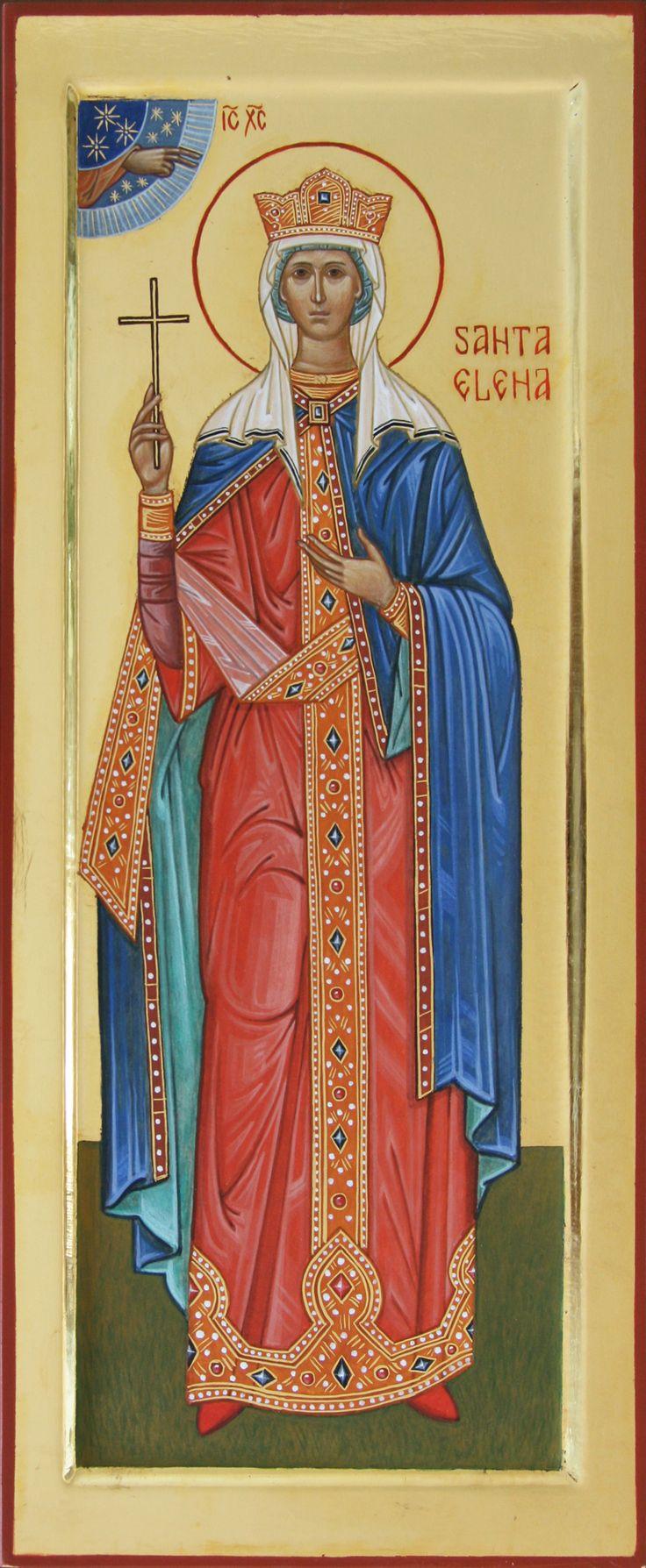 Santa Elena imperatrice icona per mano di Giuliano Melzi (Italy)