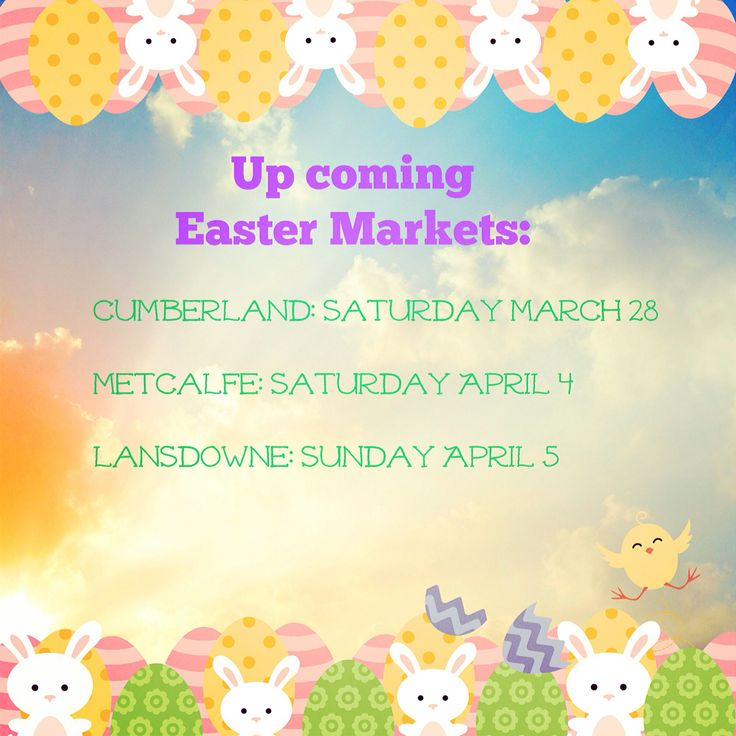 Up coming EASTER markets!