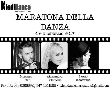 da 04/02/2017 a 05/02/2017 Maratona della Danza 2017 LUOGO: KlediDance Desenzano Via Mantova 4Q REGIONE: Lombardia PROVINCIA: Brescia CITTA': Lonato del Garda  _________________ VIDEO  -  LINK http://www.weekendinpalcoscenico.it/portale-danza/doc.asp?pr1_cod=5578#.WGVVixvhCUk