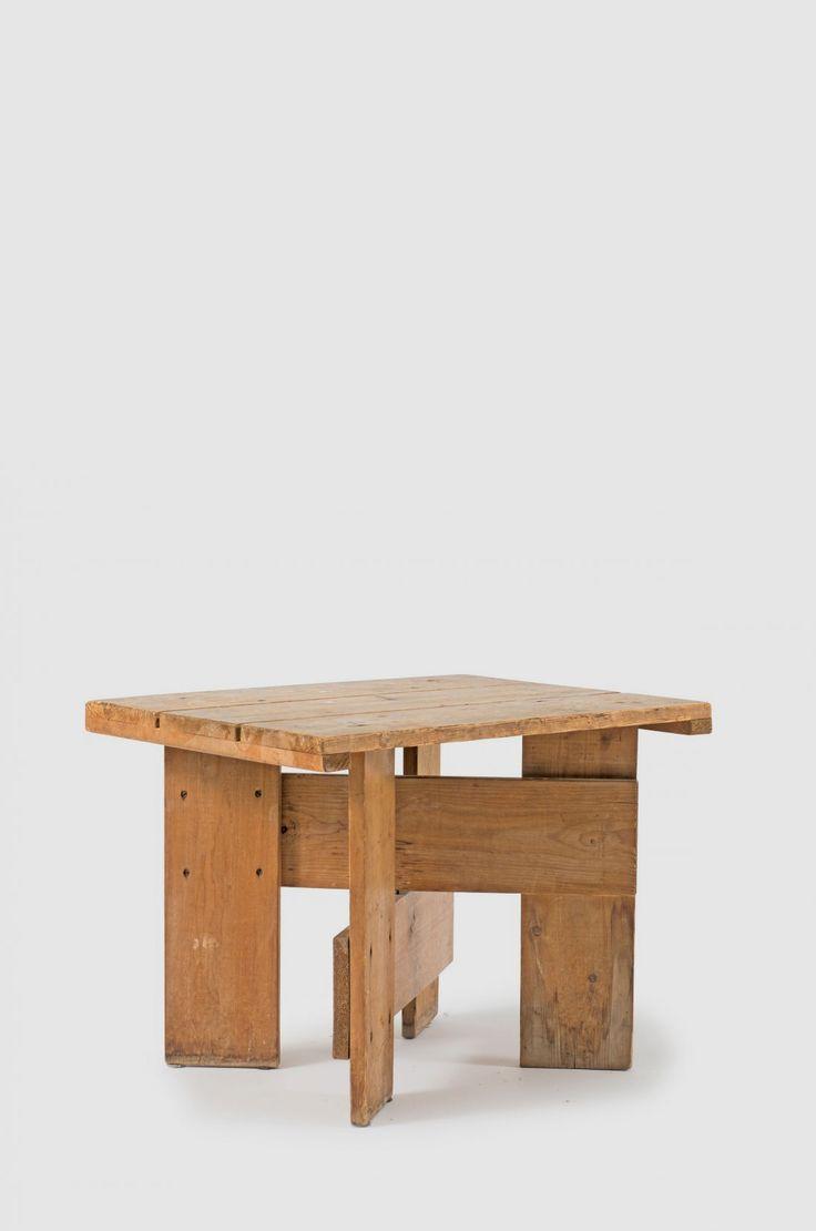 Dining tables gerrit industrial style rustic pine iron dining table - Gerrit Rietveld Pine Crate Table By Gerard Van De Groenekan For