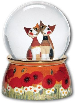 Rosina Wachtmeister Musical Water Snow Globe MICIO AND MICIA (and...I'VE GOT IT!!!)
