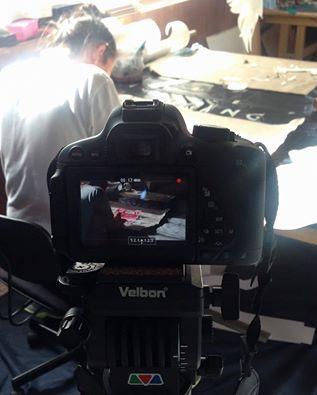 work in progress, video shooting
