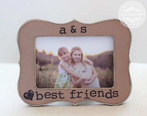 Best Friend Picture Frame GIFT Custom Rustic by CrystalCoveDS $27.95