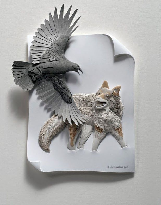paper sculptures by calvin nicholls