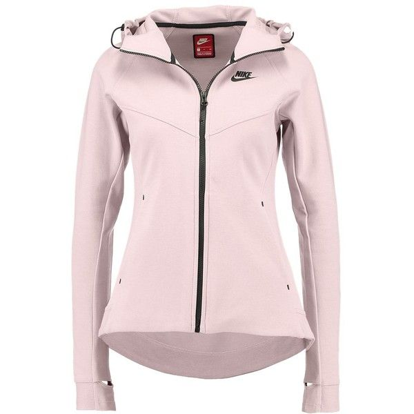 Nike Sportswear HOODIE Vest (155 AUD) ❤ liked on Polyvore featuring outerwear, vests, pink vest, rose vest, nike vest, nike and vest waistcoat