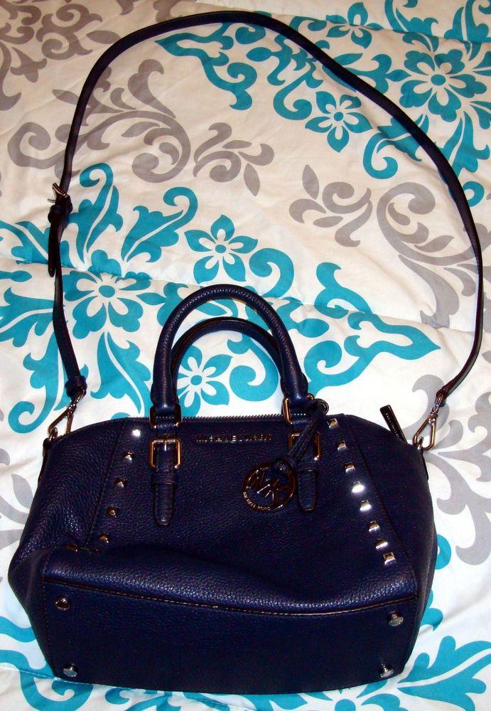 7e2413a8f3683e MICHAEL KORS CIARA STUDDED MEDIUM MESSENGER #35T7SC6M6L - NAVY LEATHER  #fashion #clothing #shoes #accessories #womensbagshandbags (ebay link)