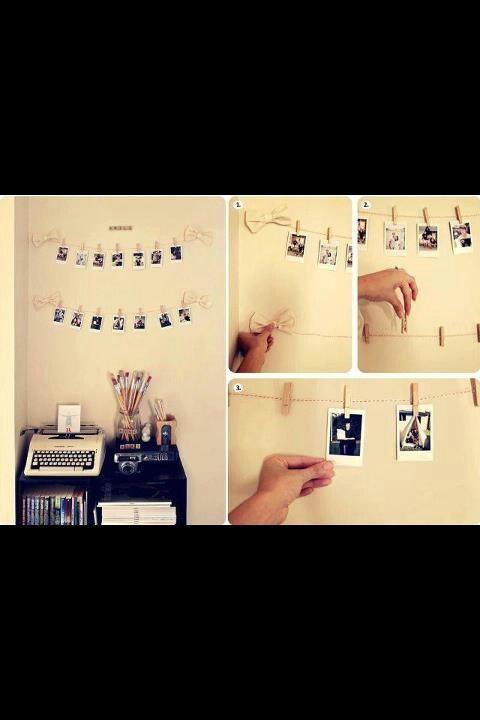 Utilicemos las fotografías de nuestras hij@s para una linda decoración en su cuarto.