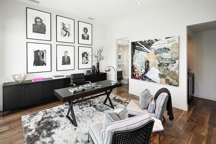 Домашние офисы с черным и белым / Архитектура и дизайн интерьера / Архимир