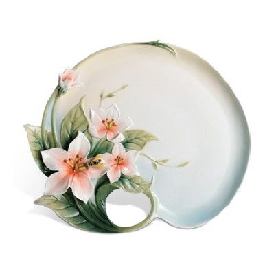 Bee & Apple Blossom Design: plate