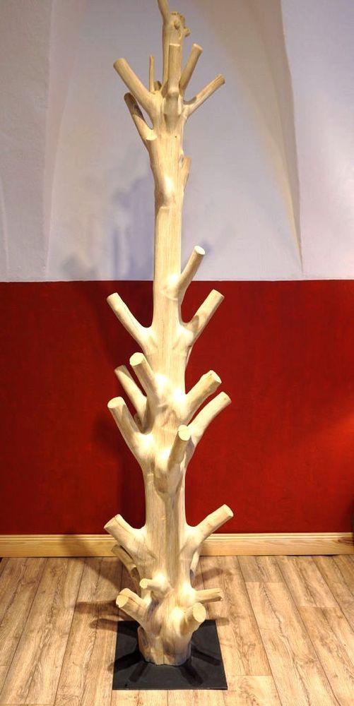 Garderobe Baum Kleiderständer Flurmöbel Kleiderhaken Hutständer Holz massiv NEU
