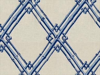 Brunschwig & Fils BAMBOO TRELLIS BLUE 8012123.5