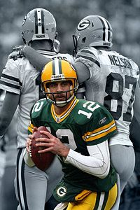 Green Bay Packers Photograph - Packers Aaron Rodgers by Joe Hamilton
