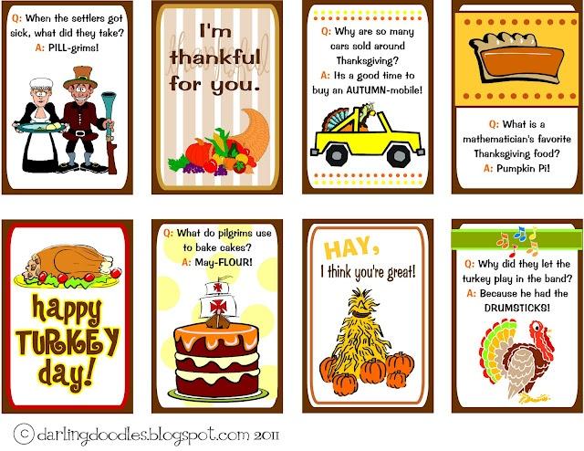 Darling Doodles | Thanksgiving Lunch Box Notes | Darling Doodles