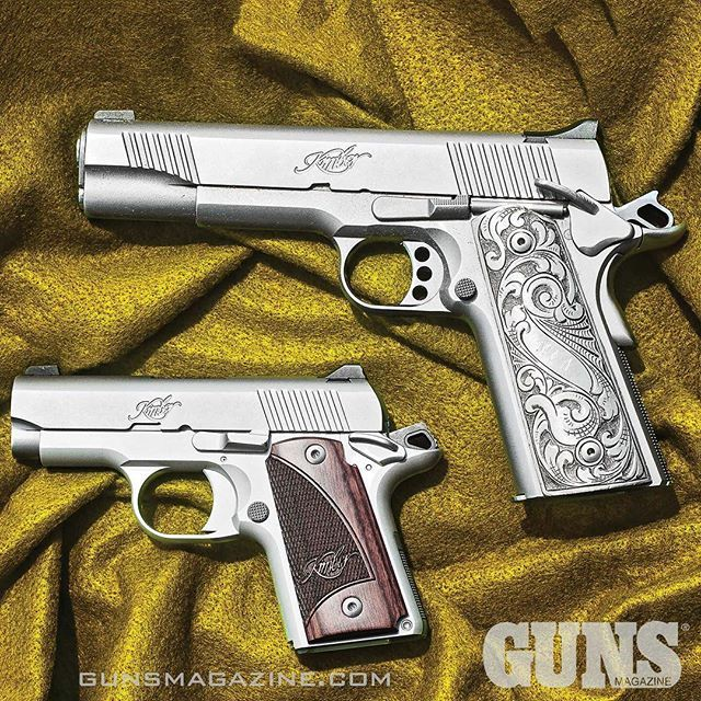 Looks like a two Kimber Tuesday to start the year. The Micro 9 is dwarfed by the Kimber Classic .45. Read more about the Mini-1911 Micro 9 in the February 2017 issue of GUNS Magazine by following our profile link. ---------- #gunsmagazine #guns #gunstagra