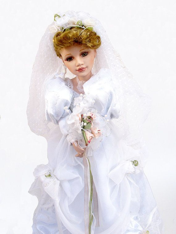 Bride doll dolls collectible doll fancy doll by AlbertsAttic