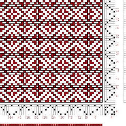 Hand Weaving Draft: Page 122, Figure 33, Donat, Franz Large Book of Textile Patterns, 5S, 5T - Handweaving.net Hand Weaving and Draft Archiv...