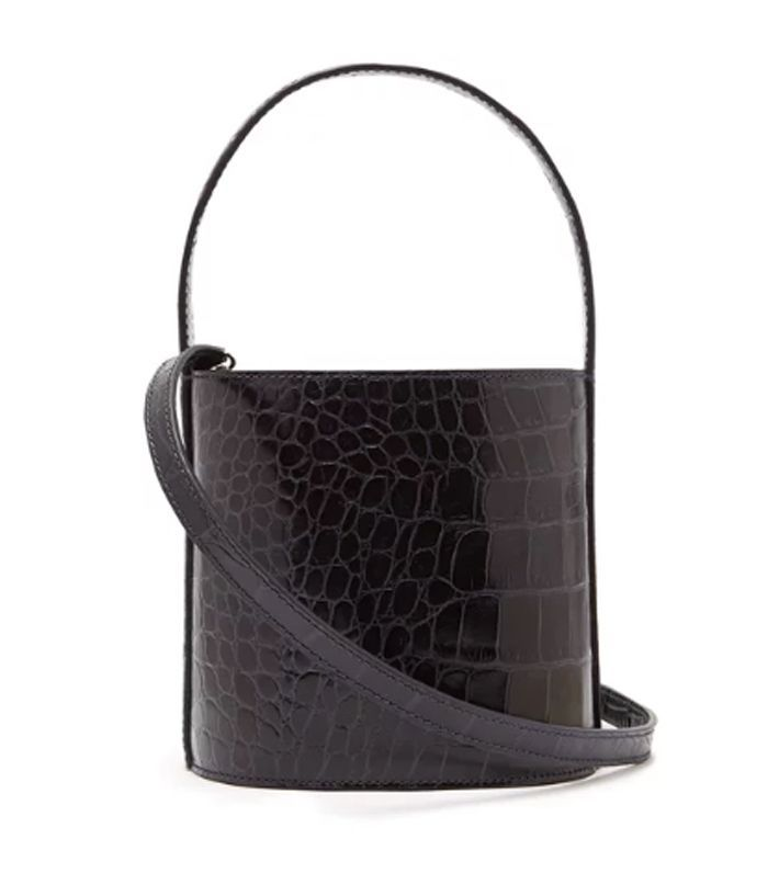 ... Bags Look Expensive. Staud Bissett Crocodile-Effect Leather Bucket Bag b5451cdc55fdc