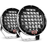 """Nilight 2 Piece 185W 9"""" Round LED Work Light 12V Fog Driving Roof Bar Bumper off-Road Light Bar for Truck Car ATV SUV Jeep Boat ATV Auxiliary, 2 years Warranty (Amazon Affiliate Program)"""