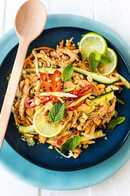 Asian Inspired Shredded Chicken Salad Recipe on Yummly. @yummly #recipe