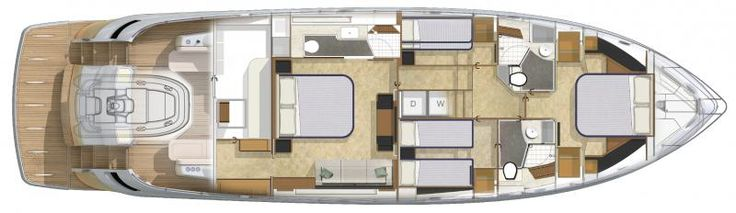 Riviera 6000 Sport Yacht | Lower Level