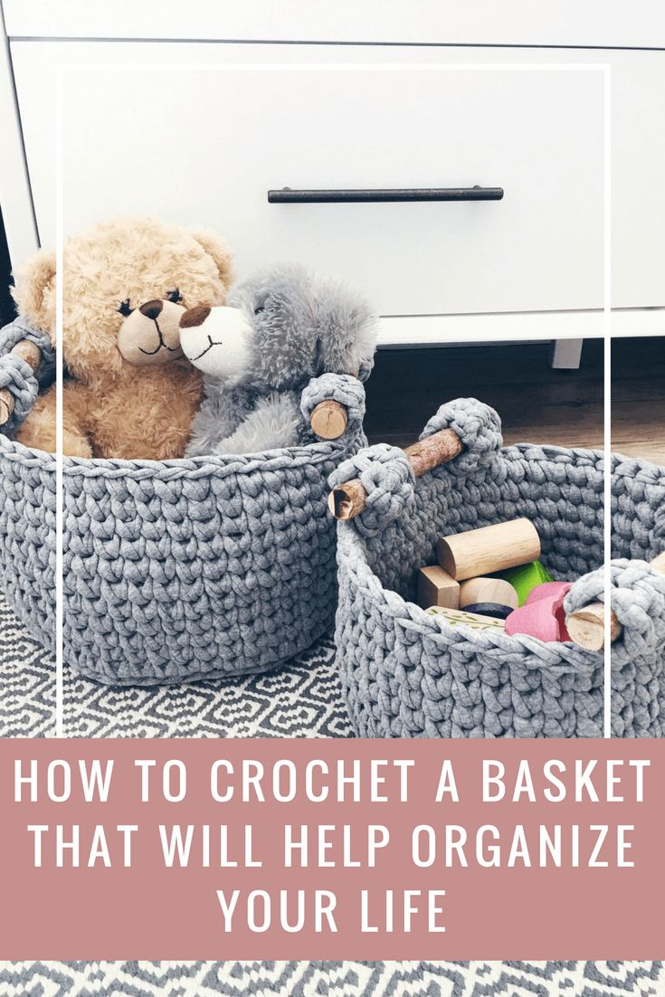 In this basket crochet pattern I spill all the details to crochet the ultimate basket, sturdy handles, stiff sides, modern design & yarn substitutes...