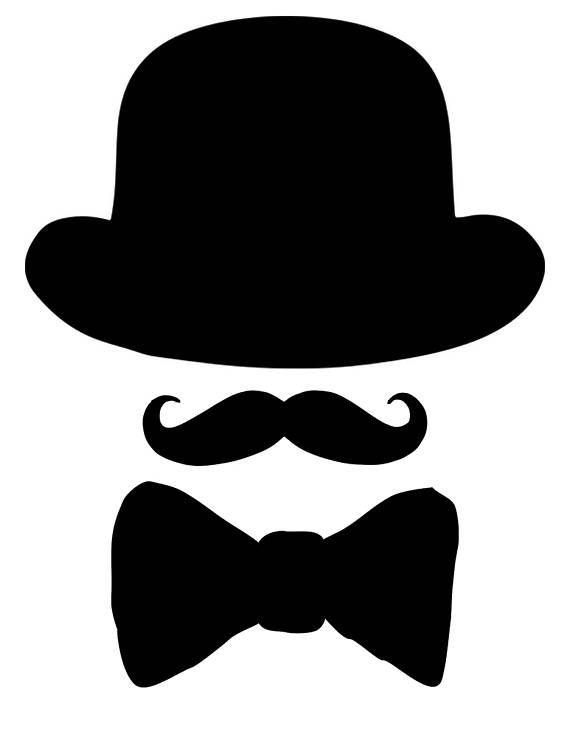 Printable Bow Tie, Printable mustache, Printable black hat ...