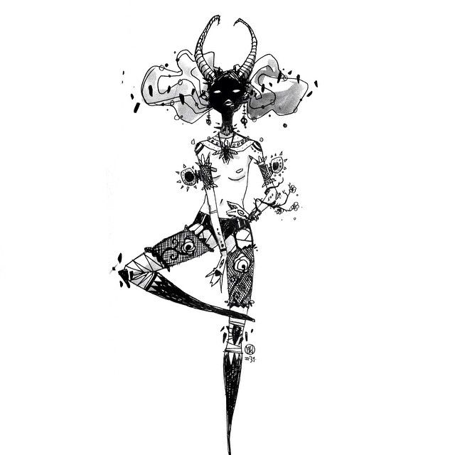 Pinup Arena • darksideof: The last of inktober :( Thank you...