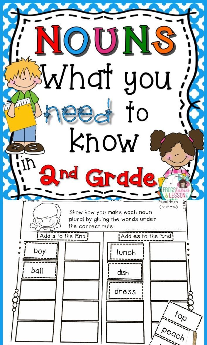 Second Grade Nouns Practice Worksheets And Literacy Center Activities This Common Core Aligned Resource Focuse Nouns Activities Nouns Literacy Center Activity [ 1177 x 706 Pixel ]