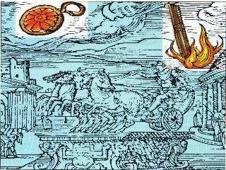 "This is a renaissance illustration of a UFO sighting in Rome detailed in a book ""Prodigiorum liber"" by Roman historian Julio Obsequens - ""Something like a sort of weapon, or missile, rose with a great noise from the earth and soared into the sky"".:"
