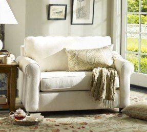 Buchanan Twin Sleeper Chair | Pottery Barn - perfect solution