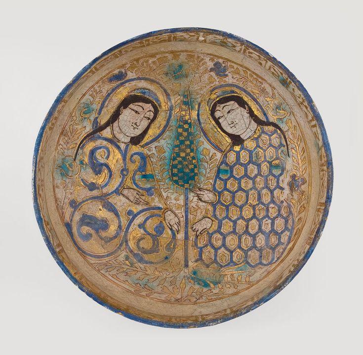 Kashan mina'i ware bowl, Iran, 12th-13th century