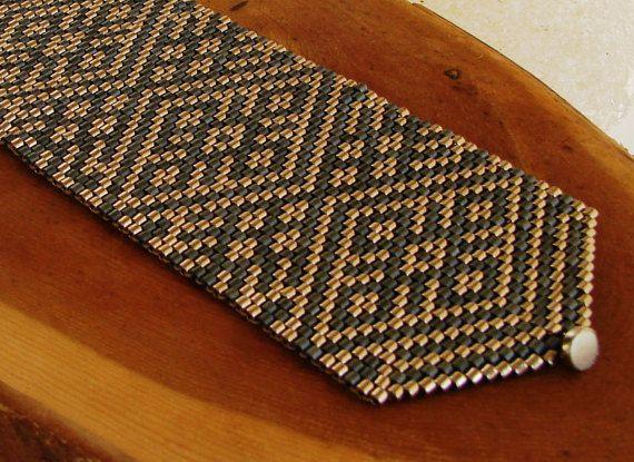 Браслет Узоры. Красивый плетеный мозаикой стальной с от Vladbeads