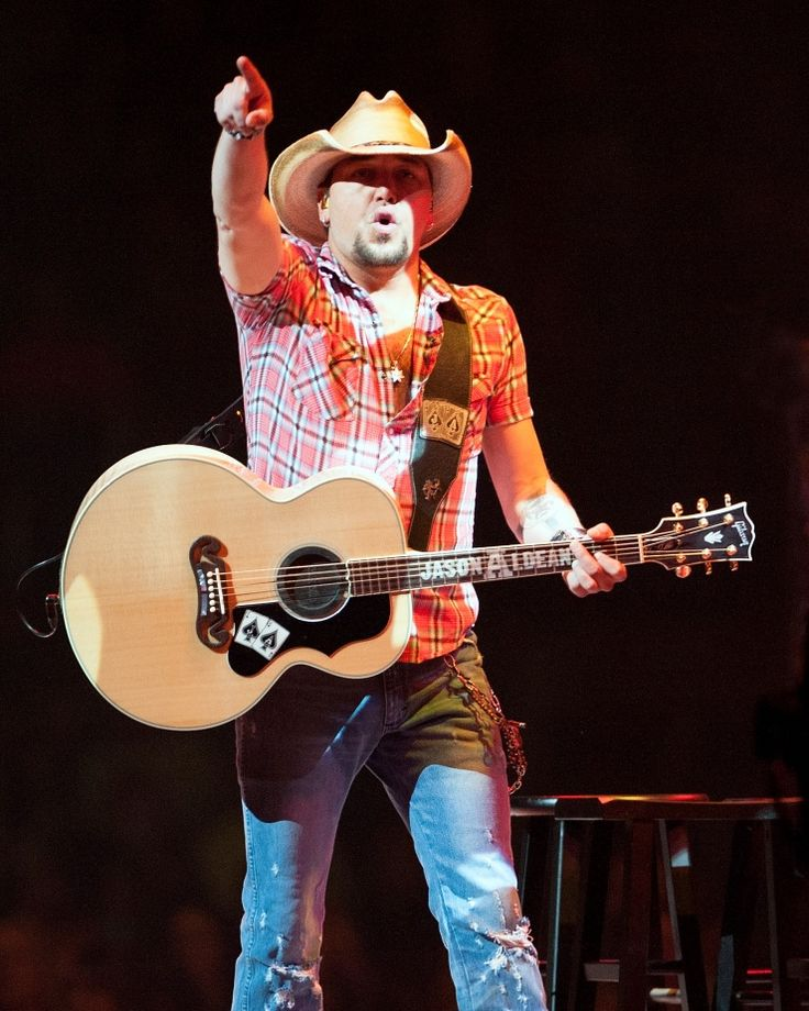 """Who's coming with me?"" Current GRAMMY nominee Jason Aldean gets the night train rolling during a performance on Jan. 9 in Bossier City, La."