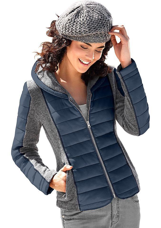 #Classic #Inspirationen #Damen #Classic #Inspirationen #Walk-Jacke aus #Walk-Qualität #blau Walk-Jacke, Die Mischung macht´s! Jacke im angesagten Mix aus Walk-Qualität und kontrastfarbigen, wattierten Stepp-Einsätzen im Vorderteil, an den Ärmeln und am Schalkragen. Mit Reißverschluss, 2 seitlichen Reißverschluss-Taschen und 1 Innentasche mit Knopf. Formgebende Teilungsnähte hinten. Länge in Gr. 42 ca. 66 cm. Figurumschmeichelnde Form. 90% Polyacryl, 10% Wolle. Handwäsche. <br…
