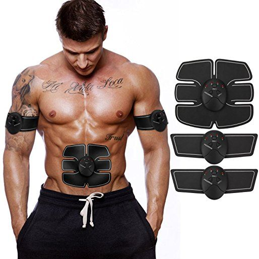 Muscle Toner, ITERY Abdominal workouts Fitness Portable AB Machine Abdominal Toning Belt EMS Training ABS Trainer Wirless Muscle Toning for Abdomen/Arm/Leg for Men or Women