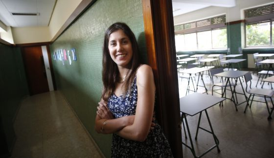 Blanca Díez, alumna del Colegio Agustiniano que quiere ser médico y reparte comida solidaria, saca un 9,995 en selectividad