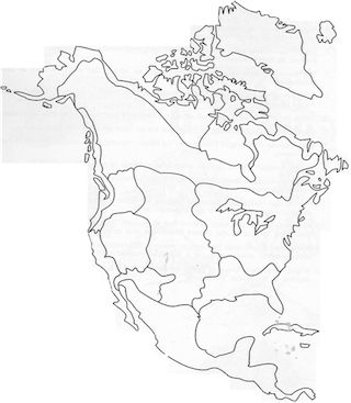 Blank Outline Map Native American Culture Groups