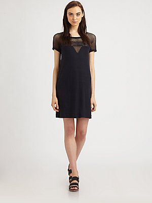 Marc by Marc Jacobs Mesh-Panel T-Shirt Dress