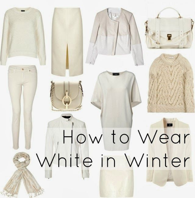Wardrobe Oxygen: Winter White.  Can you wear white after Labor Day? What is the difference between regular white and winter white?  What makes a white item appropriate in fall and winter?  I offer my opinion and tips on how to wear white in the winter.