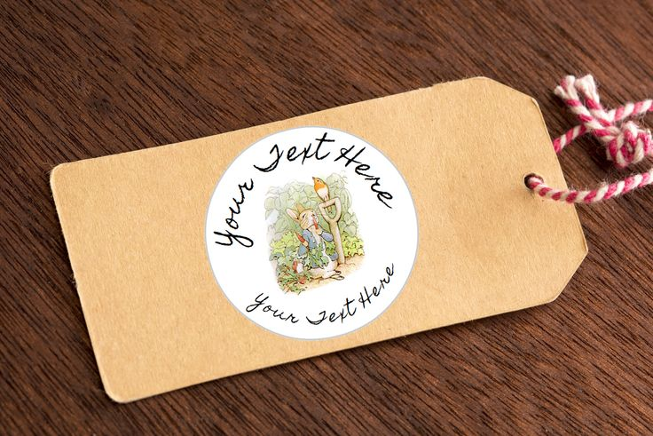 Adorable Peter Rabbit Beatrix Potter Theme Personalised Stickers Mixed Designs by VintageChicFreak on Etsy