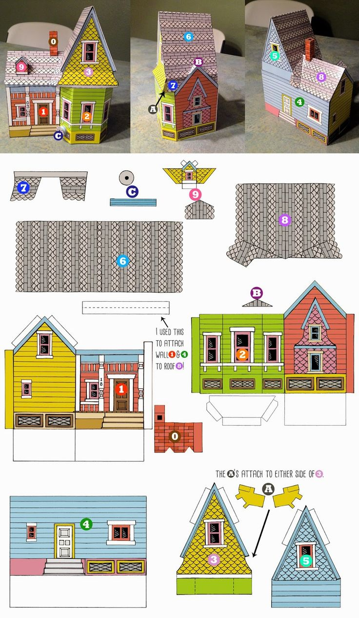 Peach Bum: UP HOUSE Printable Template!
