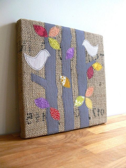 How to & template- Burlap wall art by Jenny Bartoy via whipup