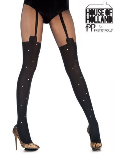 House of holland suspender-style stockings