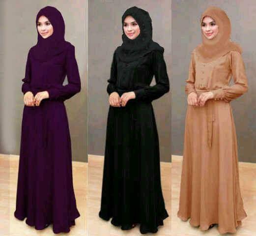 Jual baju muslim syari dewasa busui maxi diandra