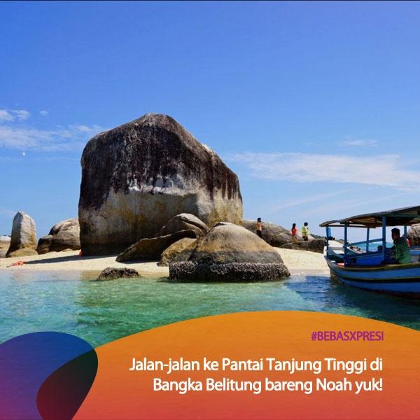 Hi temen-temen di Bangka Belitung? Seru nih seandainya Noah main ke Bangka Belitung terus ke lokasi syuting film Laskar Pelangi di Pantai Tanjung Tinggi! Vote untuk Bangka Belitung yuk di bebasxpresi.com! #BebasXpresi