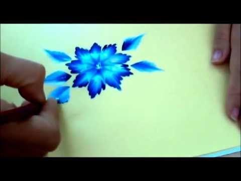 Corso one stroke. Tutorial tecnica one stroke painting flowers gepind door www.hierishetfeest.com