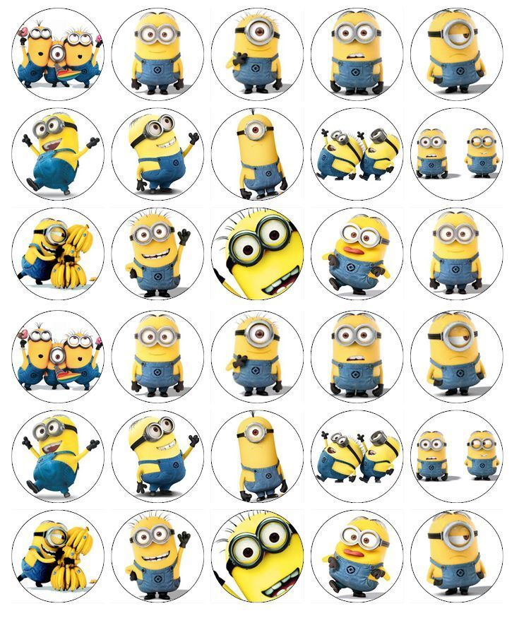 Minions Despicable Me Cupcake Toppers Edible Wafer Paper BUY 2 GET 3RD FREE! | eBay