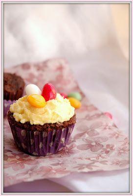 Levendula & Csokoládé: Húsvéti brutál kakaós és lemon curd-ös cupcake