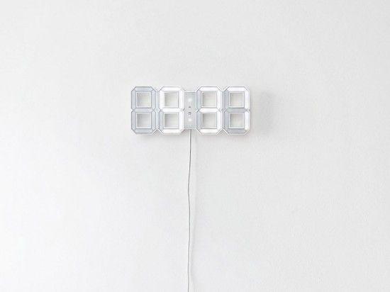 White LED digital clock