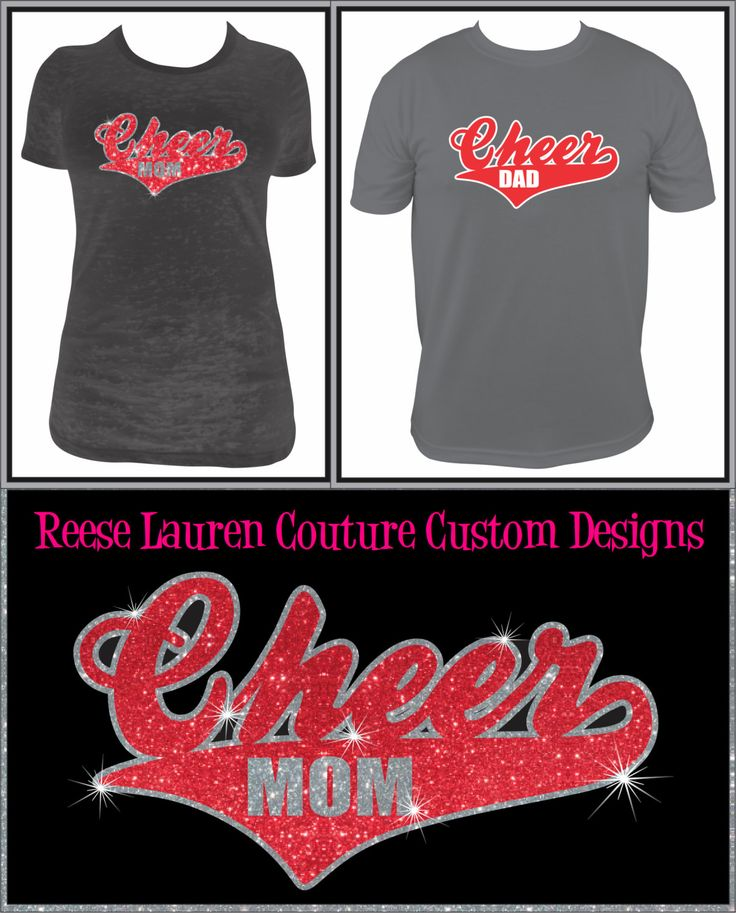 Cheer Shirt Design Ideas this is our original design this sparkly cheer moms bling it and their daughters bring Cheer Momcheer Dad Custom T Shirts Backpacks And Decals By